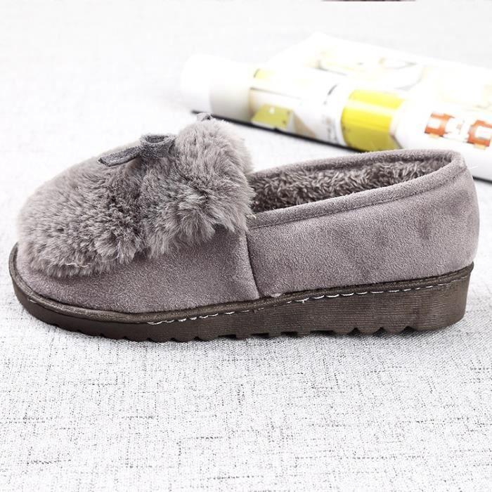 nouveau style Belle sol souple Pantoufles coton chaud femmes d'hiver Pantoufles pantoufles Casual en 3 couleurs,noir,41