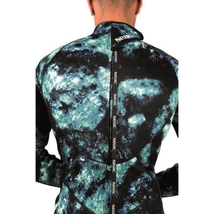 SEAC Combinasion de plongée Body Fit Camo - 1,5 mm - Homme - Camouflage Bleu
