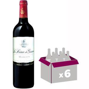 VIN ROUGE Sirène de Giscours Margaux 2014 - Vin rouge x6