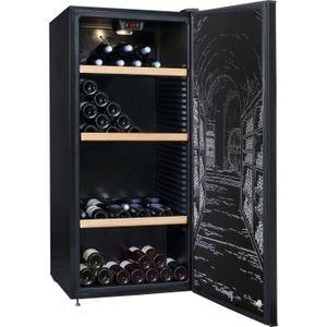 CLIMADIFF CLPP150 Cave ? vin polyvalente ou de vieillissement - 150 bouteilles - Pose libre - A - L63 x H 138,5 cm