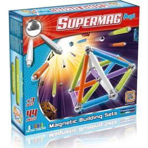 SUPERMAG Jeu de Construction Magnétique Maxi Fluo, 44 pi?ces