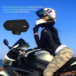 CASQUE - ÉCOUTEURS QTBE6 Casque de moto Casque d'écoute Bluetooth Sys
