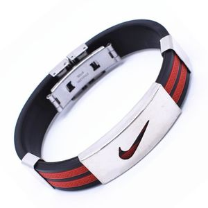 Bracelet en Silicone pour Hommes , Nike Rouge