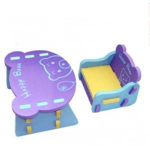 TABLE ET CHAISE Table Et Chaise Ensemble Violet Forme Dours Mouss