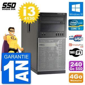 ORDI BUREAU RECONDITIONNÉ PC Tour Dell 7020 Intel Core i3-4130 RAM 4Go SSD 2