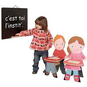 TABLEAU ENFANT JB BOIS Tableau C'est toi l'instit 59x39 cm Noir M