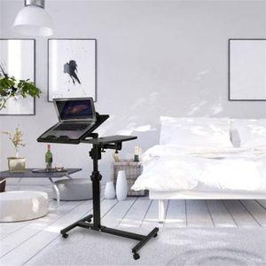 MEUBLE INFORMATIQUE Table d'ordinateur portable pliant longueur réglab
