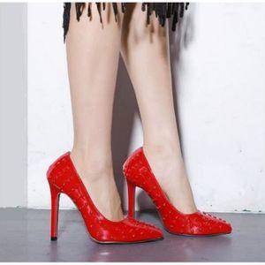 ESCARPIN Femme chaussures personnalisé rivets hauts talons
