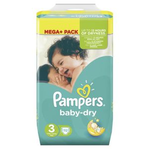 COUCHE Pampers Baby Dry Taille 3 Midi 4-9 kg Mega Pack 11