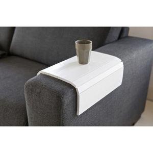 PLATEAU DE TABLE Plateau flexible en chene coloris blanc, 36 x 45 c