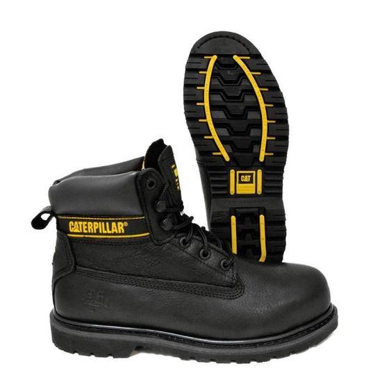 3b58f07a65512e CHAUSSURE SECURITE HAUTE HOLTON S3 HRO CATERPILLAR NOIR - Achat / Vente  chaussures de securité - Soldes d'été dès le 26 juin Cdiscount