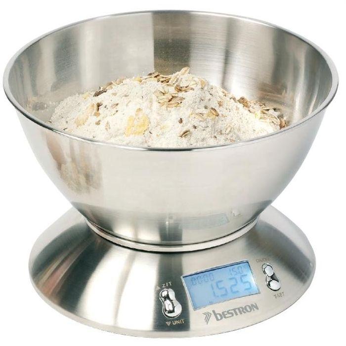 Balance Cuisine Numérique - Inox - 2x 1.5 AAA (Pile excl.)BALANCE CULINAIRE ELECTRONIQUE