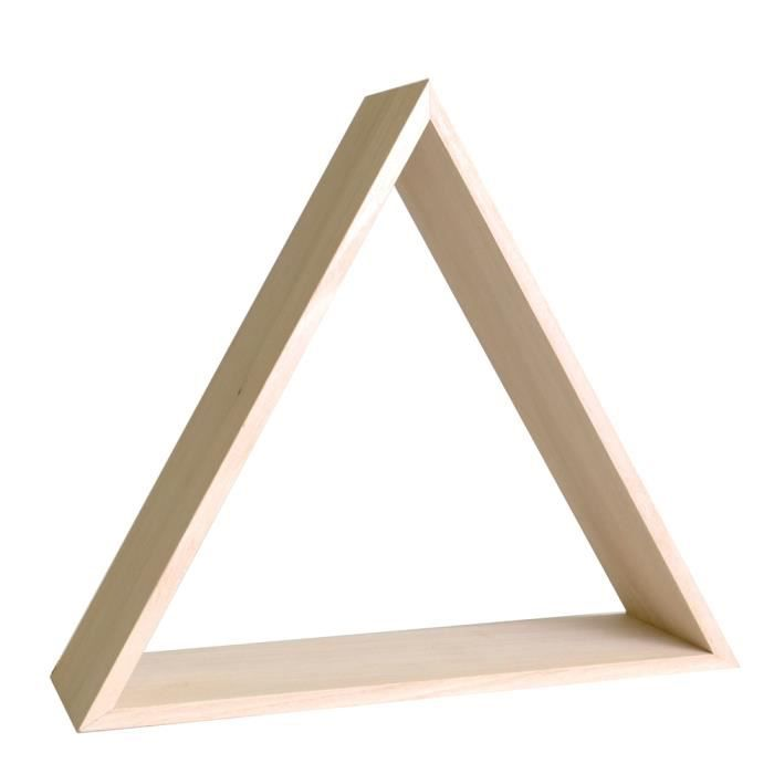 U00c9tagu00e8re Triangle En Bois U00e0 Customiser - Meuble Rangement - Achat / Vente Etagu00e8re Murale U00c9tagu00e8re ...