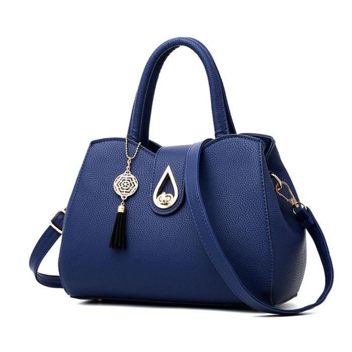72407864d36f4 Sac cuir femme sac femme de marque Sacs Sacs À Main Femmes Célèbres Marques  femmes sacs à main en cuir bleu Haut qualité agréable R4