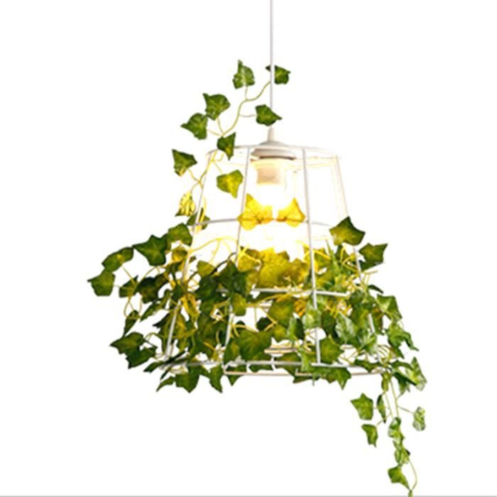 plantes suspendues moderne oiseau cage clairage luminaire fer pendentif lampe pour bar. Black Bedroom Furniture Sets. Home Design Ideas