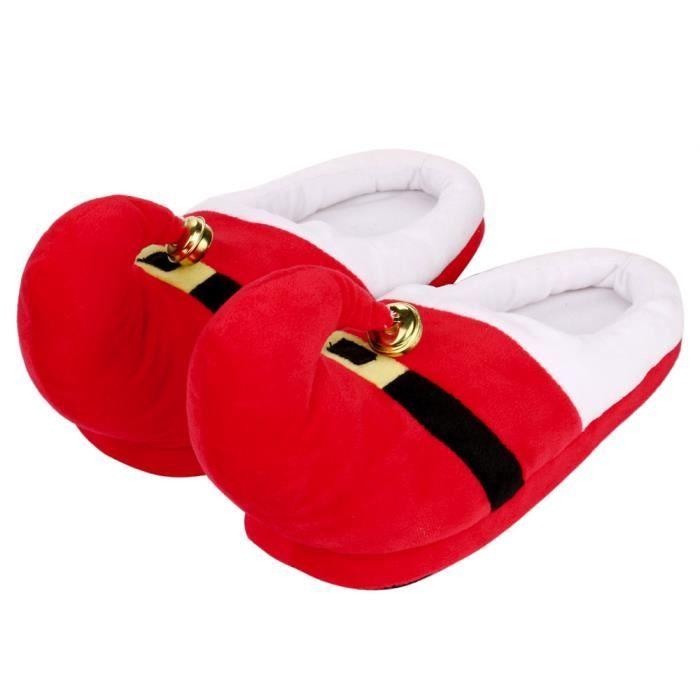 Unisexe en peluche coton Pantoufles hiver chaud intérieur de Noël Pantoufles Chaussures Noël HA7697