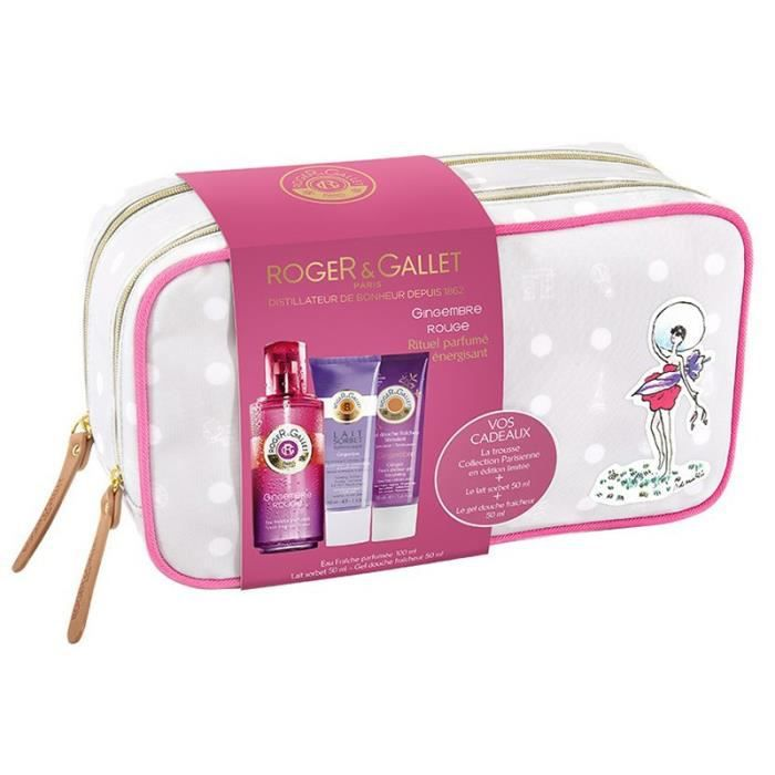 e1bf083ff4a54 ROGER GALLET GINGEMBRE ROUGE Trousse Week-end Parisienne (100 ml + 2 x 50  ml)
