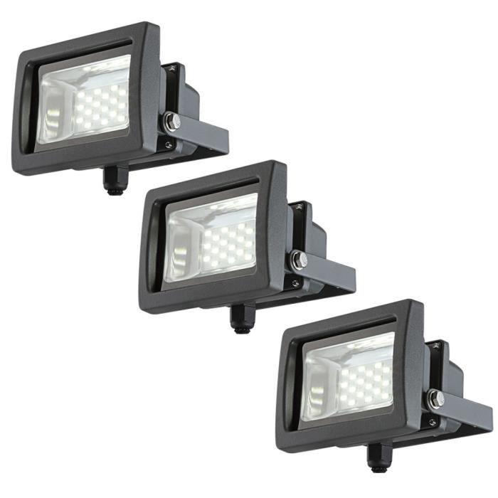 3 X Spots Luminaire Del Eclairage Lampe Led 10 Watts Projecteur