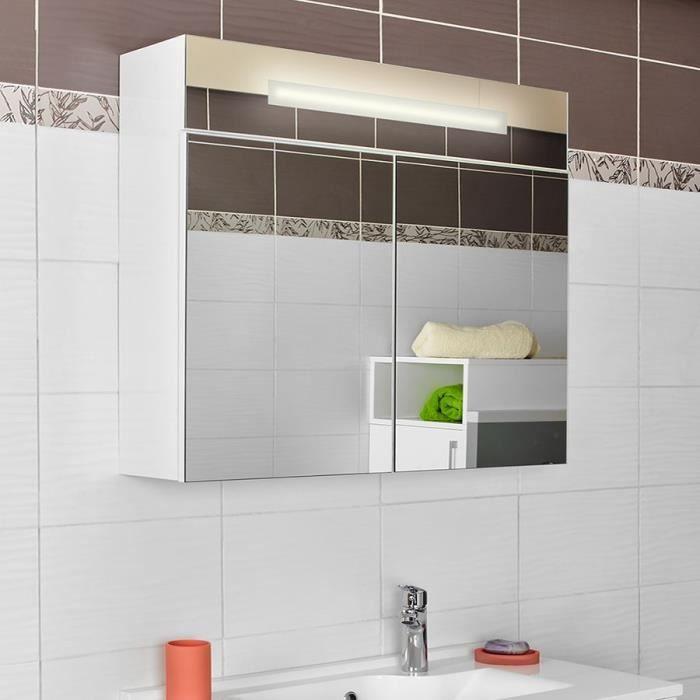 Armoire miroir salle de bain avec eclairage achat - Glace de salle de bain avec eclairage ...