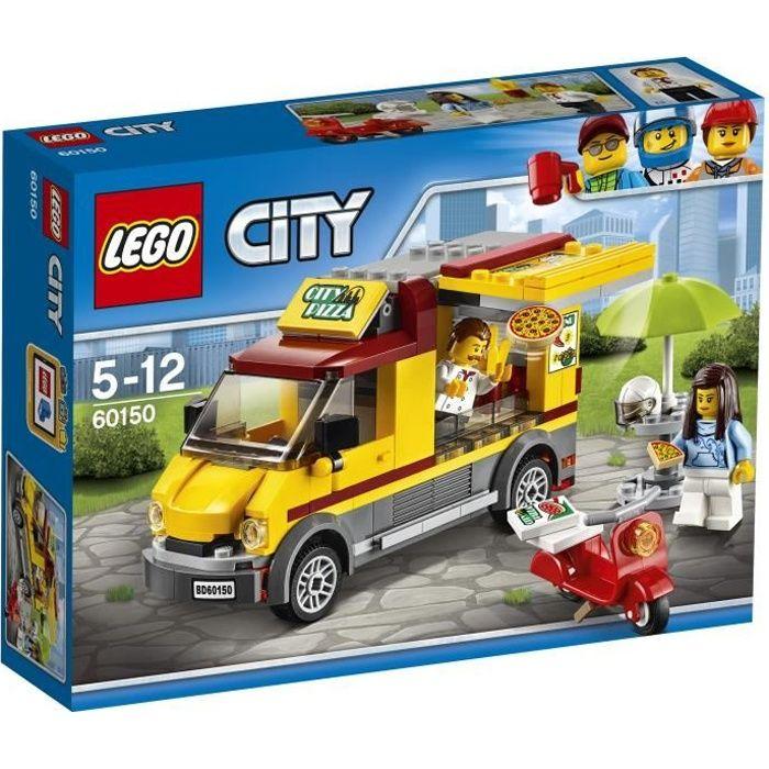 ASSEMBLAGE CONSTRUCTION LEGOR City 60150 Le Camion Pizza