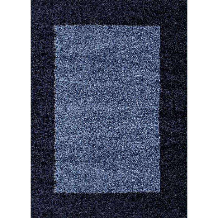 life tapis de salon shaggy 80x150 cm bleu nuit achat vente tapis 100 polypropyl ne soldes. Black Bedroom Furniture Sets. Home Design Ideas