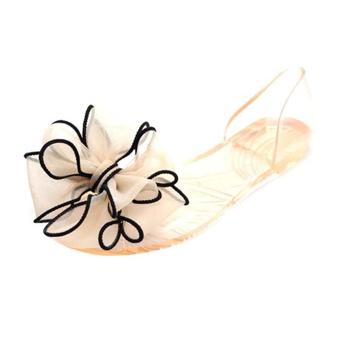 Femme Bowknot Sandales Fille Toes Ouvert Fleur PVC Sandales Pour Été HEE GRAND hmEhkHZ4Z