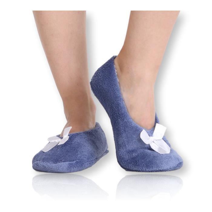 Fuzzy Corail mou Pantoufles en polaire - Slip House chaussons pour adultes, femmes, filles IK175 Taille-M