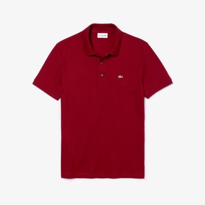 Manches Polo Lacoste Courtes Polo Rouge cTlK1JF3
