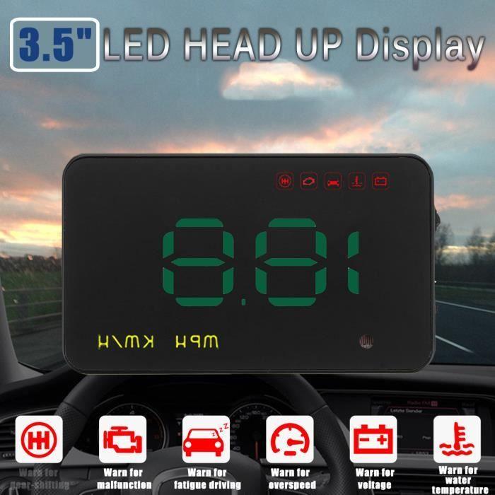 AFFICHAGE PARE-BRISE 3.5 Pouces Auto HUD Head Up Display OBD GPS Univer