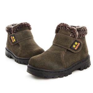 Martin Boots Enfants Hiver Garçons Fille Classique Chaussures ZX-XZ101Noir36 m2OBE4
