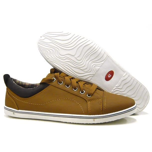 sportif Hommes chaussures loisir Sneaker Skater chaussures camel 40 bJ3rRyDw86