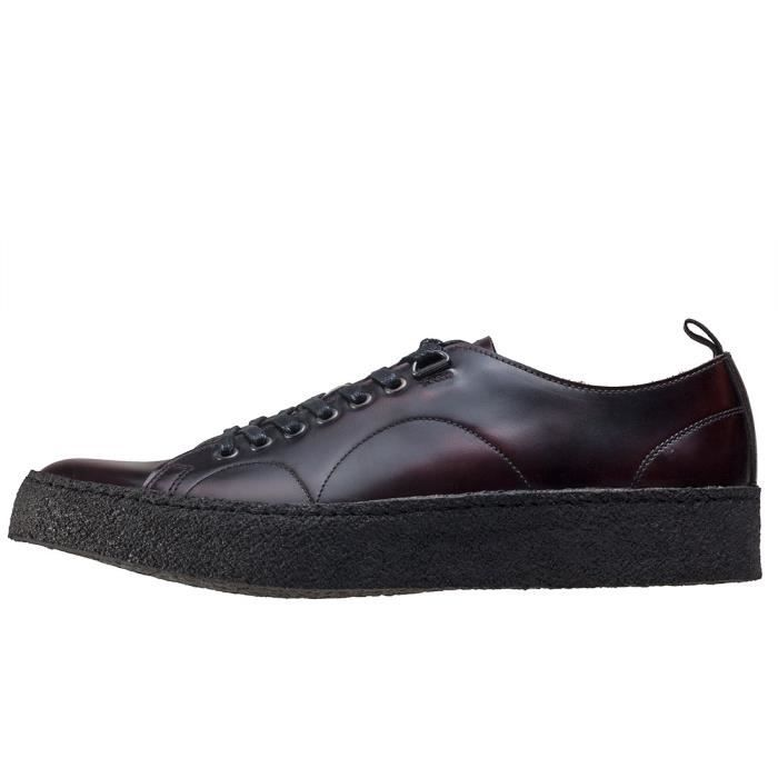 Fred Perry X George Cox Creeper Mid Mixte Baskets Noir - 6 UK LcMiqCo