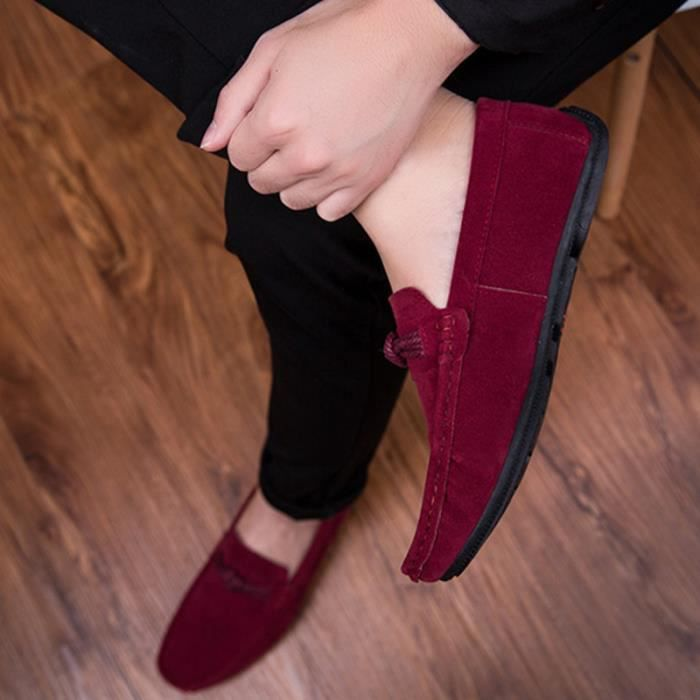 LKG XZ278Rouge39 chaussure Confortable Homme mode Moccasin Chaussures ville Hommes de Xzqw8UF