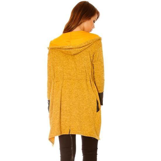 Gilet ou veste jaune moutarde