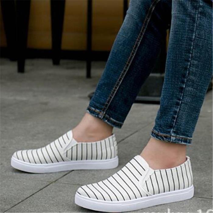 Chaussures de toile Hommes Marque De Luxe Mocassin mode Les chaussures de loisirs Poids Léger Chaussure pour homme Plus Taille VapmQpZ