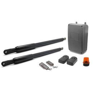 AVIDSEN Kit de motorisation télescopique MP-P400A STYRKA ? pistons pour portail ? 2 battants 3mx200kg max 12V