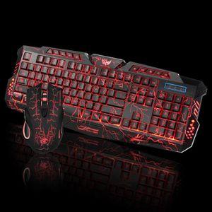 CLAVIER D'ORDINATEUR Deuxsuns®Le clavier et la souris de jeu de Gaming