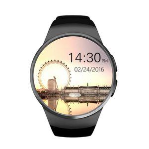 MONTRE CONNECTÉE LADUU NOIR Smart Watch KW18 Cardio fréquencemètre