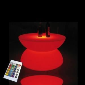 DÉCORATION LUMINEUSE Table basse lumineuse rechargeable