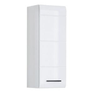 ARMOIRE DE TOILETTE meuble haut salle de de bain SKIN blanc brilliant