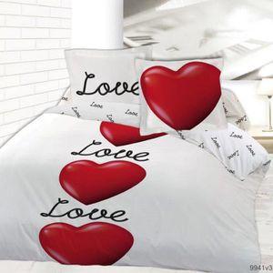 HOUSSE DE COUETTE Housse de couette 200x200 LOVE IS IN THE AIR