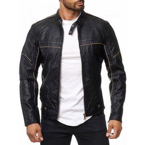 VESTE Veste en cuir pour hommes NERO de motard en cuir a 4d26212728d