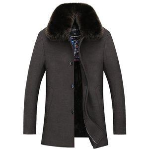 manteau homme col fourrure achat vente manteau homme. Black Bedroom Furniture Sets. Home Design Ideas