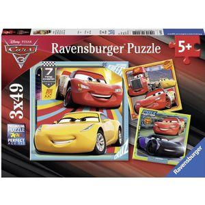 PUZZLE CARS Puzzle 3x49 pcs Prêts course - Disney