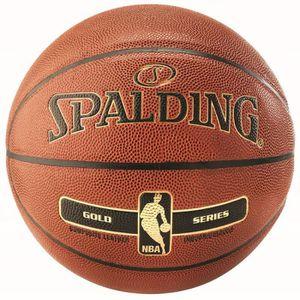 BALLON DE BASKET-BALL Ballon Spalding NBA Gold - orange-noir - Taille 6