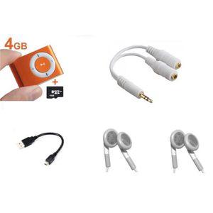 LECTEUR MP3 Lecteur baladeur MP3 - carte 4 Go - 2 ecouteurs -