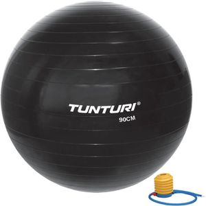 BALLON SUISSE-GYM BALL TUNTURI Ballon de gym - 90cm - Noir