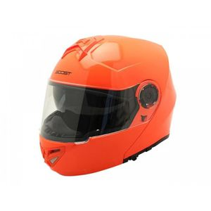 CASQUE MOTO SCOOTER Casque Modulable Boost B930 Orange Fluo Xs