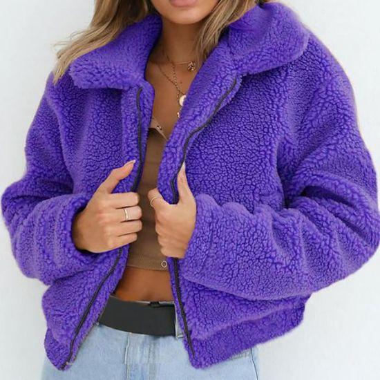 Femmes Zipper Dames Chaud D'hiver Parka Laine Rw9431 Manteau Veste Artificielle Manteaux fwf7xFrdqX