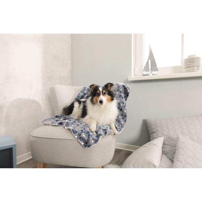 TRIXIE Couverture Tammy 150 × 100 cm - Bleu et beige - Pour chien